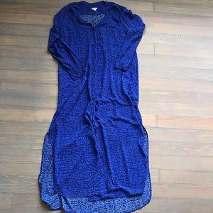 DKNY M Maxi Dress Sleeve Split bottom button up